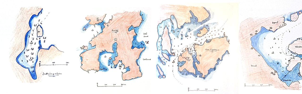 Karten-im-Buch-Ankerbuchten-Schweden